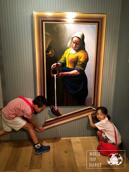 broken painting, trick art museum