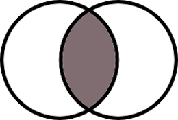 Venn diagram vesica piscis aka pisces readings by rahbinah this ancient symbol is the shape formed by two interlocking circles and is part of sacred geometry piscis refers to the fact that the middle section ccuart Image collections