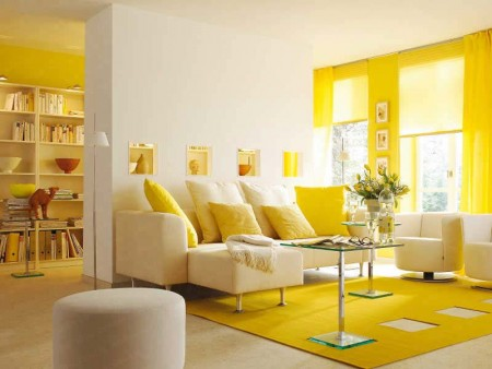 gorgeous-white-living-room-design-with-yellow-accent-also-upholstered-sofa-footrest-couch-and-glass-coffe-table
