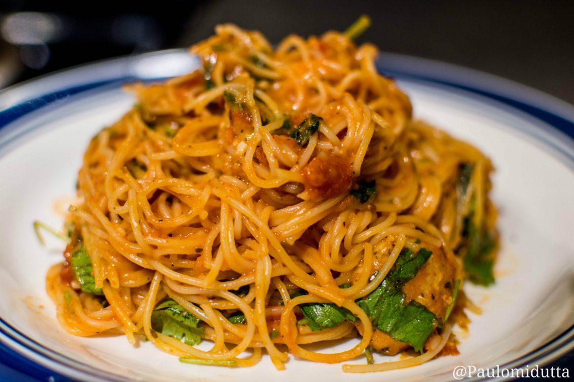 Delicious Spinach Chicken Spaghetti 1