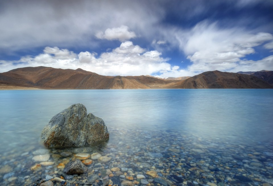 Image of the Pangong Lake in Ladakh, India