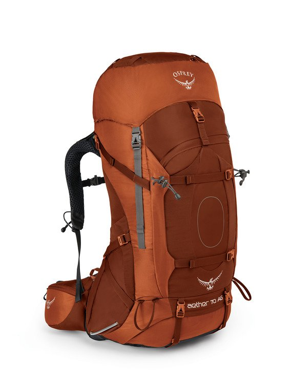 OSPREY AETHER 70L backpack for travelers