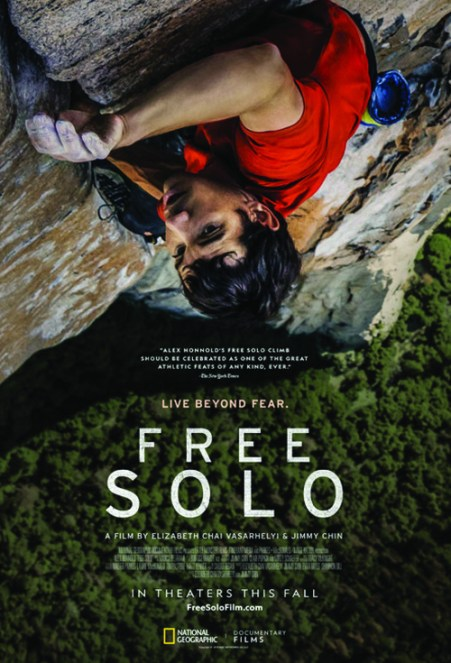 "2019 Oscar winning Documentary Feature ""Free Solo"""