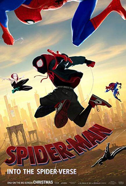 "2019  Oscar winning Best Animated Feature movie ""Spider-Man: Into the Spider-Verse"