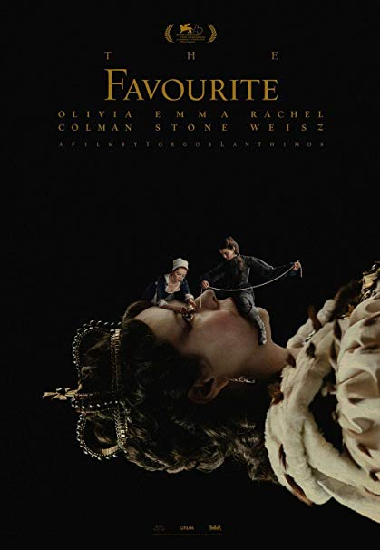 "the poster image of ""The Favourite"""