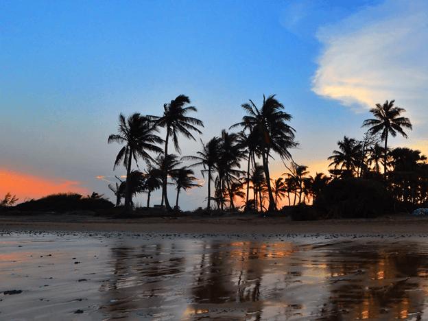 Sea beach in Mandarmoni, West Bengal