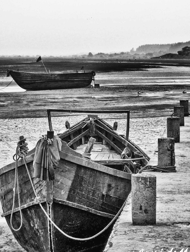 Boats on the Talshari Beach, west Bengal