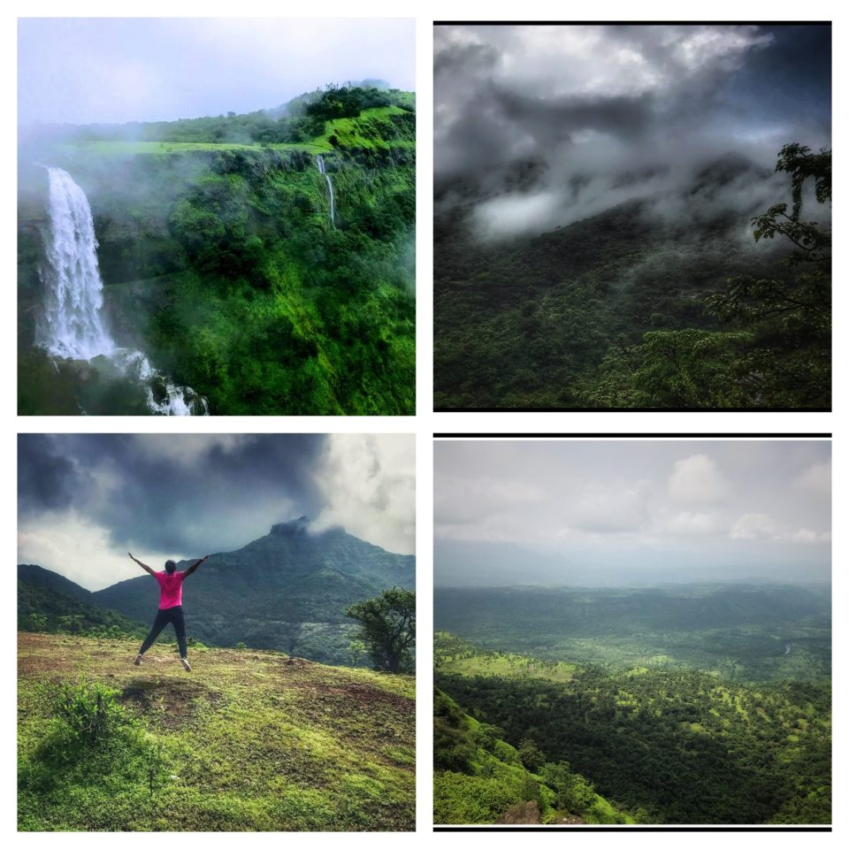 Collage pictures of Madhe Ghat around Pune