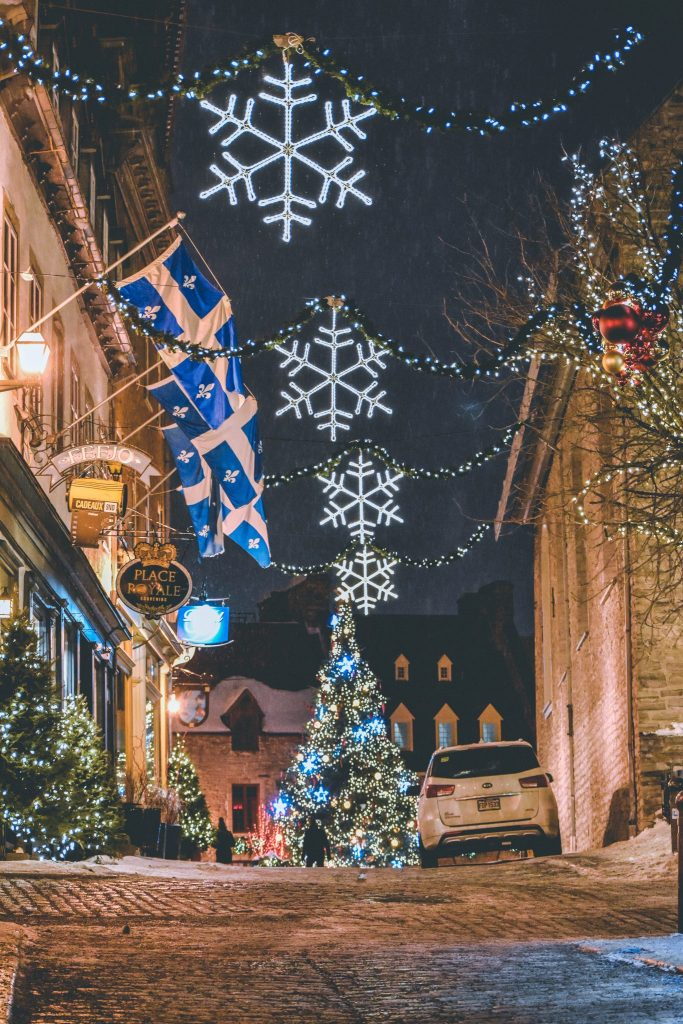 Qubec City in Christmas - best places to explore in Canada during Christmas