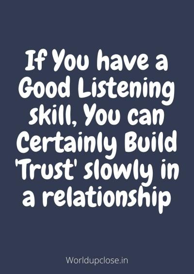 Good listening skill