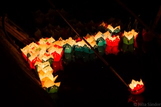 Lanterns on the waters of Hoi An