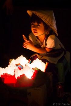 Lantern vendor child in Hoi An