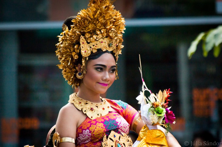 Faces of Asia: Balinese women in traditional wear on a ceremony