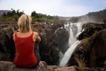 Admiring the falls