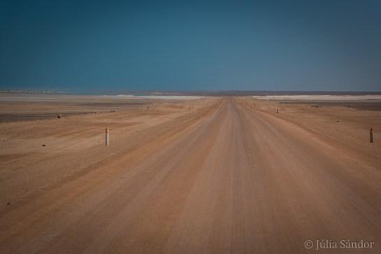 Endless road: on the way to Palmwag on the Skeleton Coast