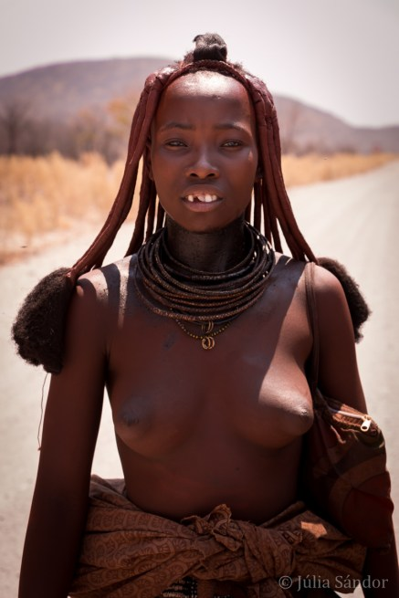 This Himba woman wanted us to take her a picture.