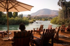 Waiting for sunset by the Kunene river