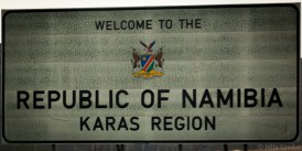 Welcome to Namibia sign