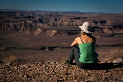 Fish River Canyon view with Julia