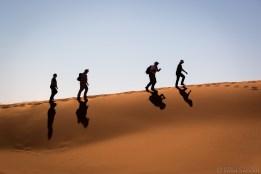 Climbing the dune