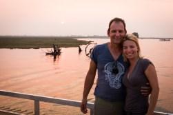 Sunset boat cruise Chobe River