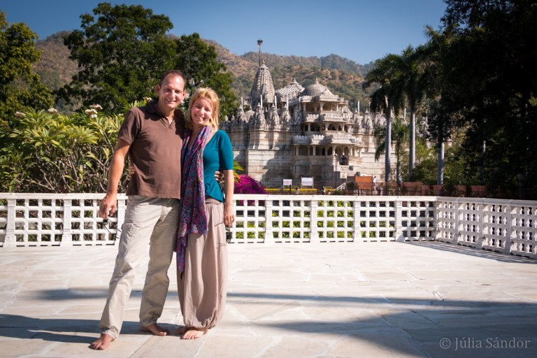 Wonderful setting of the Ranakpur temple in the green hills