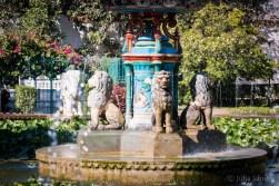 Fountains in the Sahelion Ki Bari garden in Udaipur