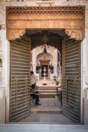 Main entrance to the Nadine Le Prince haveli