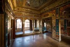 Mirror room in Patwa Haveli in Jaisalmer