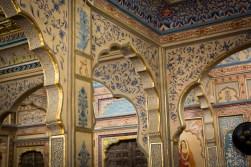 Living room wall painting in Patwa Haveli - Jaisalmer