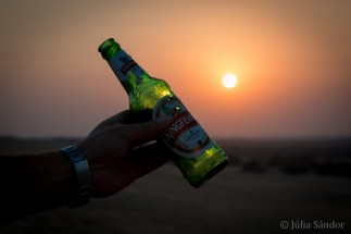 A Sun downer on the sand dune