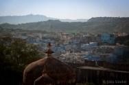 View to Jodhpur - the blue city of Radjasthan