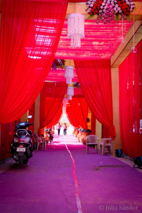 Wedding decoration at one of the locatons dedicated to celebrate