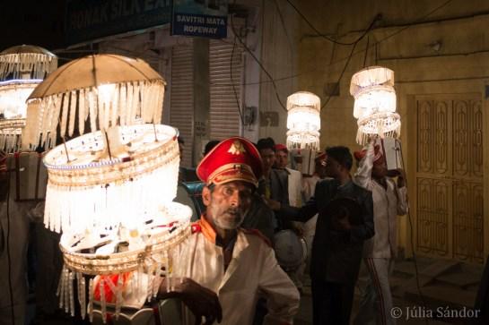Groom parade in full illumination