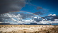 Our double rainbow over a salar (salt pan)