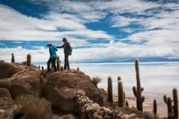 Discovering the Incahuasi Island in the middle of the Salar de Uyuni
