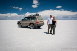 On some spots the Salar is dry - don't walk on it barefoot!!!!
