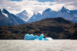 Great view to the peaks of Torre del Paine National Park