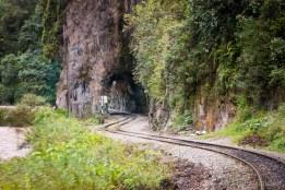 Railway leading to Aguas Calientes