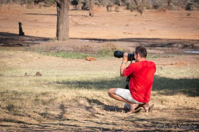 """Werner """"hunting"""" with his camera"""