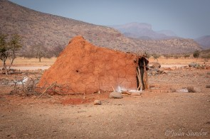 Traditional house in a Himba village