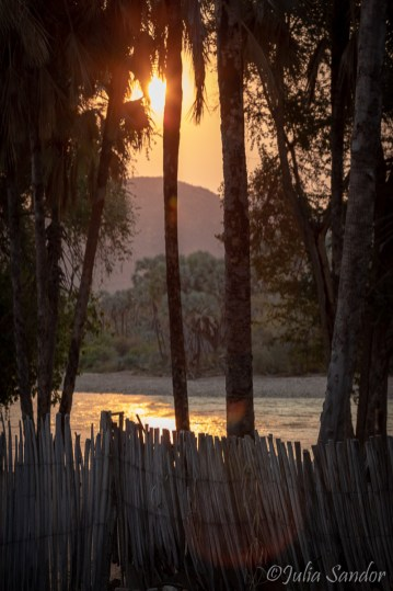Magic atmosphere on our campsite in Epupa