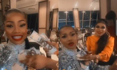 Bobrisky Spoils Tacha With Money On Her 25th Birthday (Video)