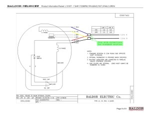 Collection Of Baldor Reliance Industrial Motor Wiring