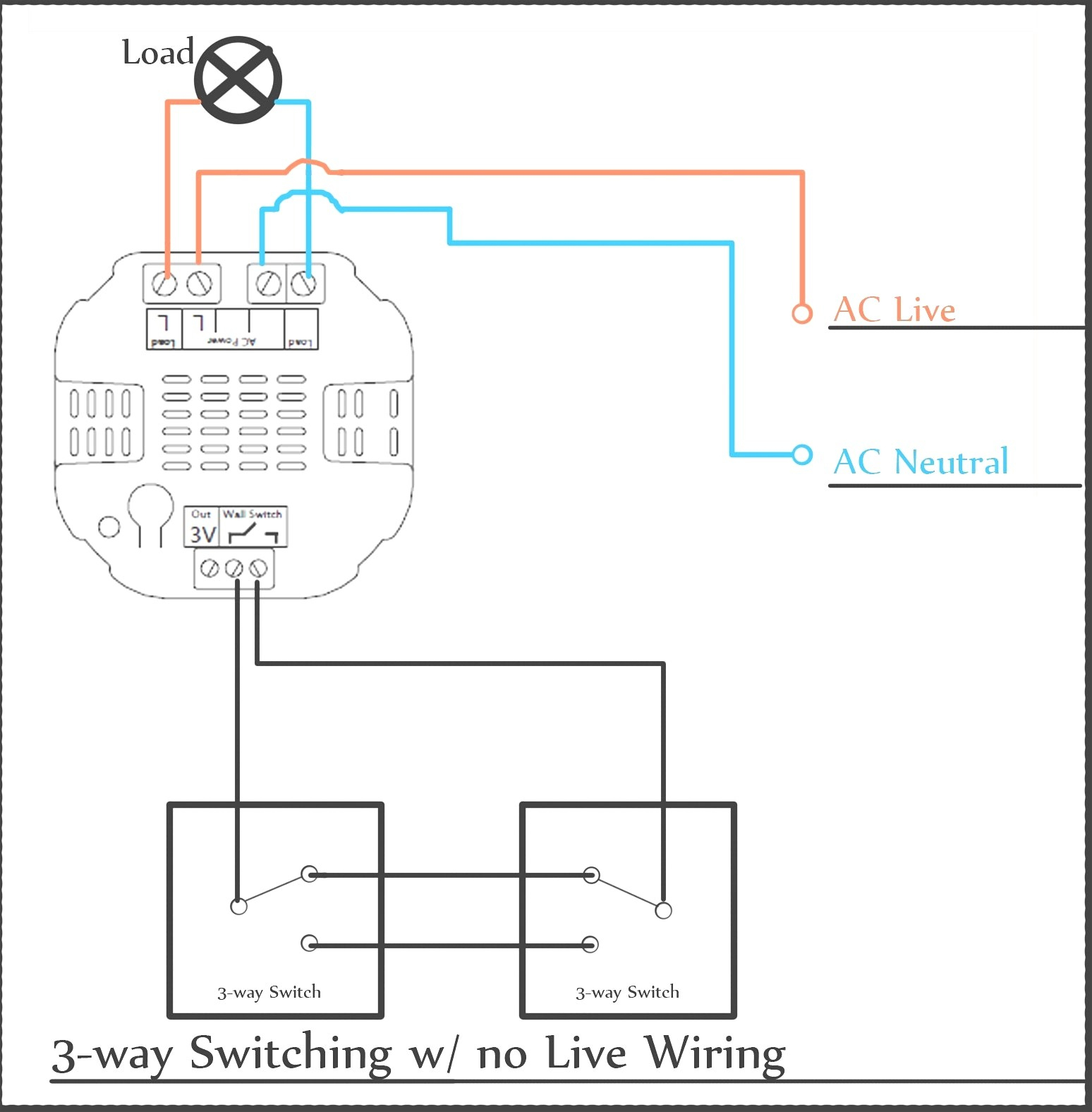 Light Dimmer Switch Wiring Diagram 3 Way