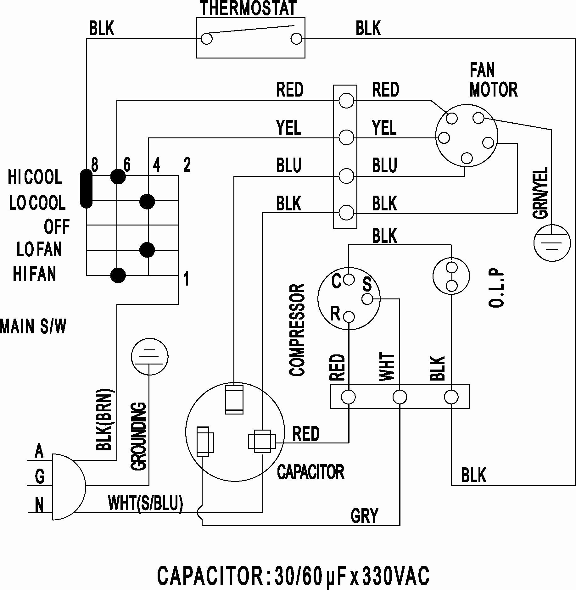 Wiring Diagram Split Type Aircon