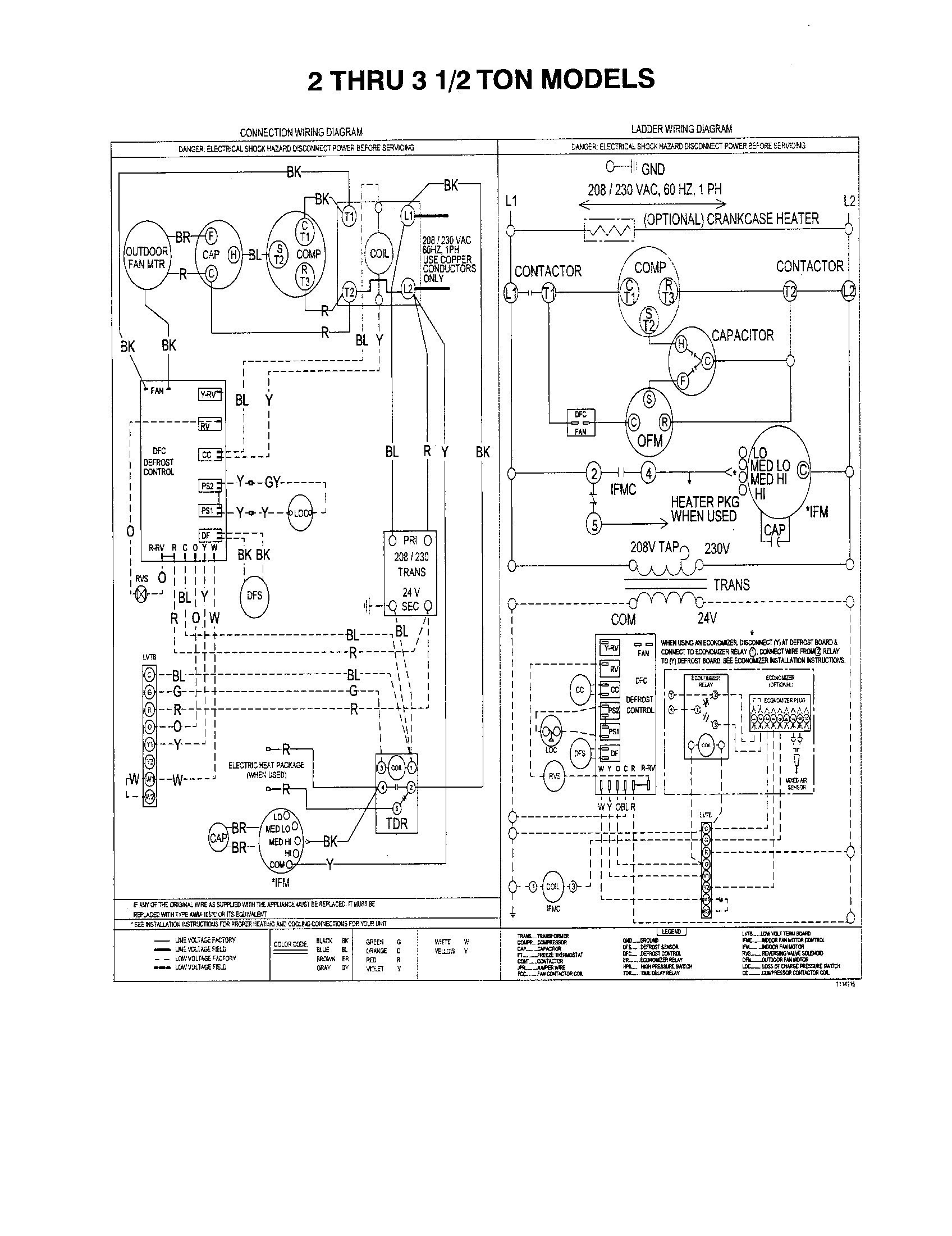 Collection Of York Rooftop Unit Wiring Diagram Download