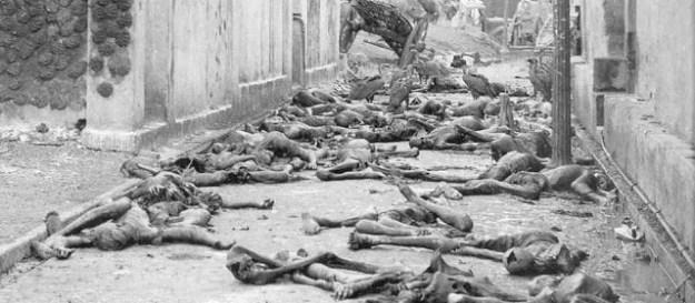 Bengal famine - street scene