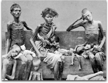 Bengal famine - family