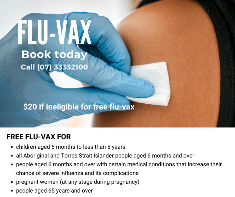 Fluvax book today
